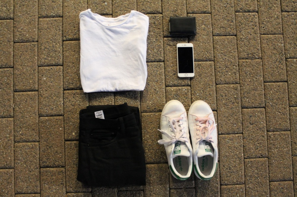 Tommy Hilfiger tee/Rogue Territory Stealth SK jeans/Adidas Stan Smiths