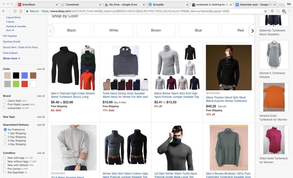 Turtleneck ebay